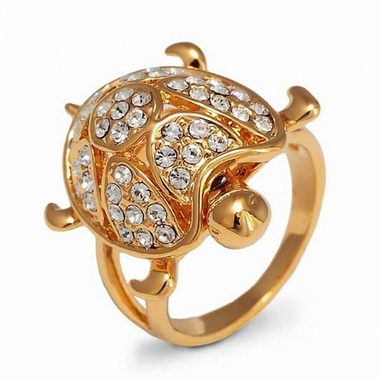 Кольцо с изображением черепахи