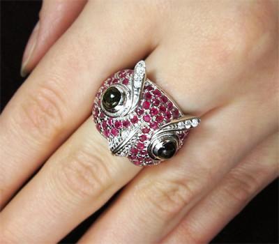 Кольцо с изображением совы
