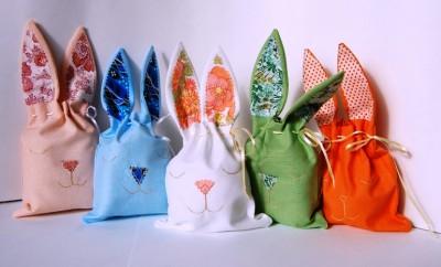 Мешочки в виде зайцев