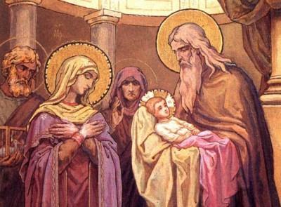 Посвящение младенца Иисуса Богу