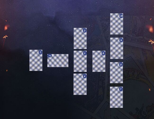 кельтский крест расклад таро схема
