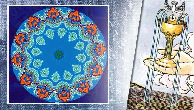 Мандала Таро квадрат треугольник круг