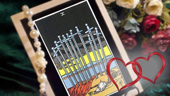 10 Мечей Таро: значение в любви