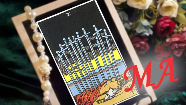 Десятка Мечей Таро: сочетание с Младшими Арканами
